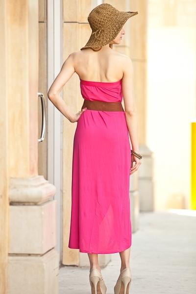 Belted Tulip Maxi Dress - Fuchsia · Sophisticates Closet ...