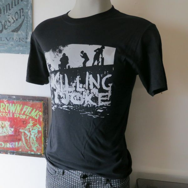 Killing joke tee t shirt screen print short sleeve for Vintage screen print t shirts