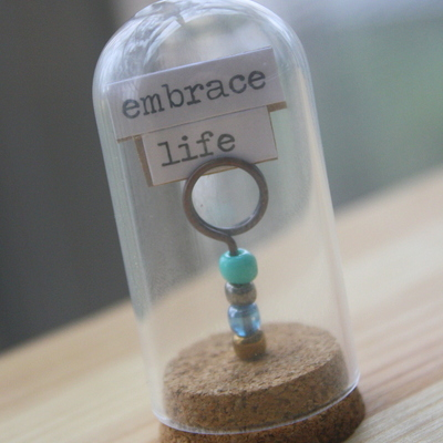 Message terrarium - minature decor - handmade unique gift