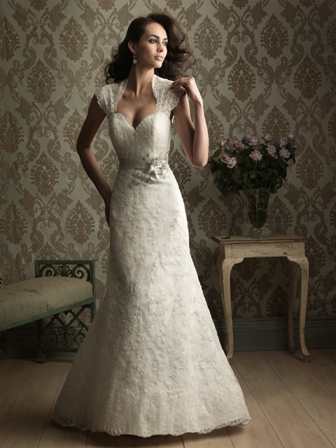 Sweetheart Beaded Lace Trumpet Gown · YZ Fashion Bridal · Online ...