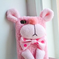New Cute Handmade Plush Pink Panther iPhone Case