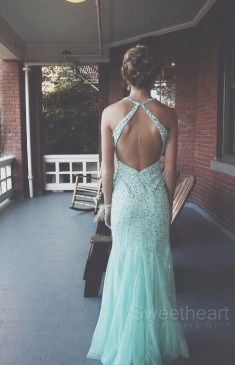 Tulle Sequin Backless Long Prom Dresses Formal Dresses On Storenvy