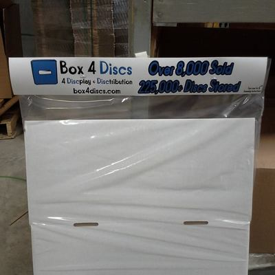 Wholesale/poly-bagged - 18 x trotterbox-deluxes by box4discs (trays & lids)
