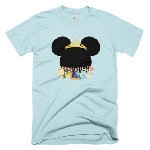 disney princesses with minnie mouse head adult t shirt on storenvy. Black Bedroom Furniture Sets. Home Design Ideas