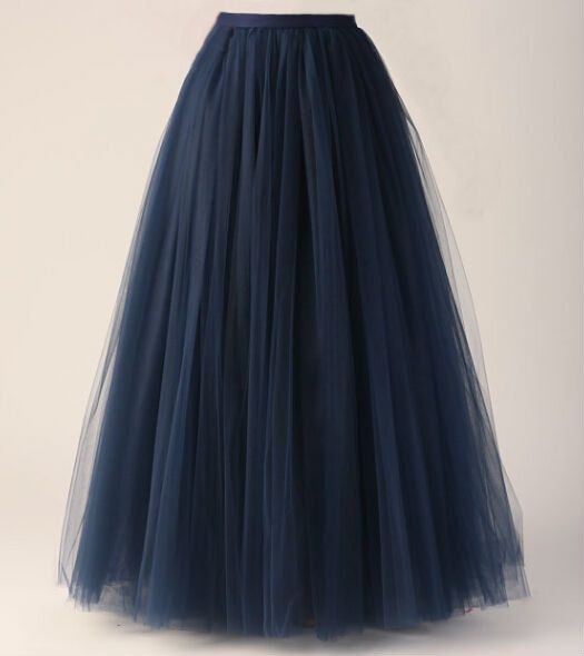 Navy BlueTulle Skirt/long Women Skirt Ball Gown Long skirts ...