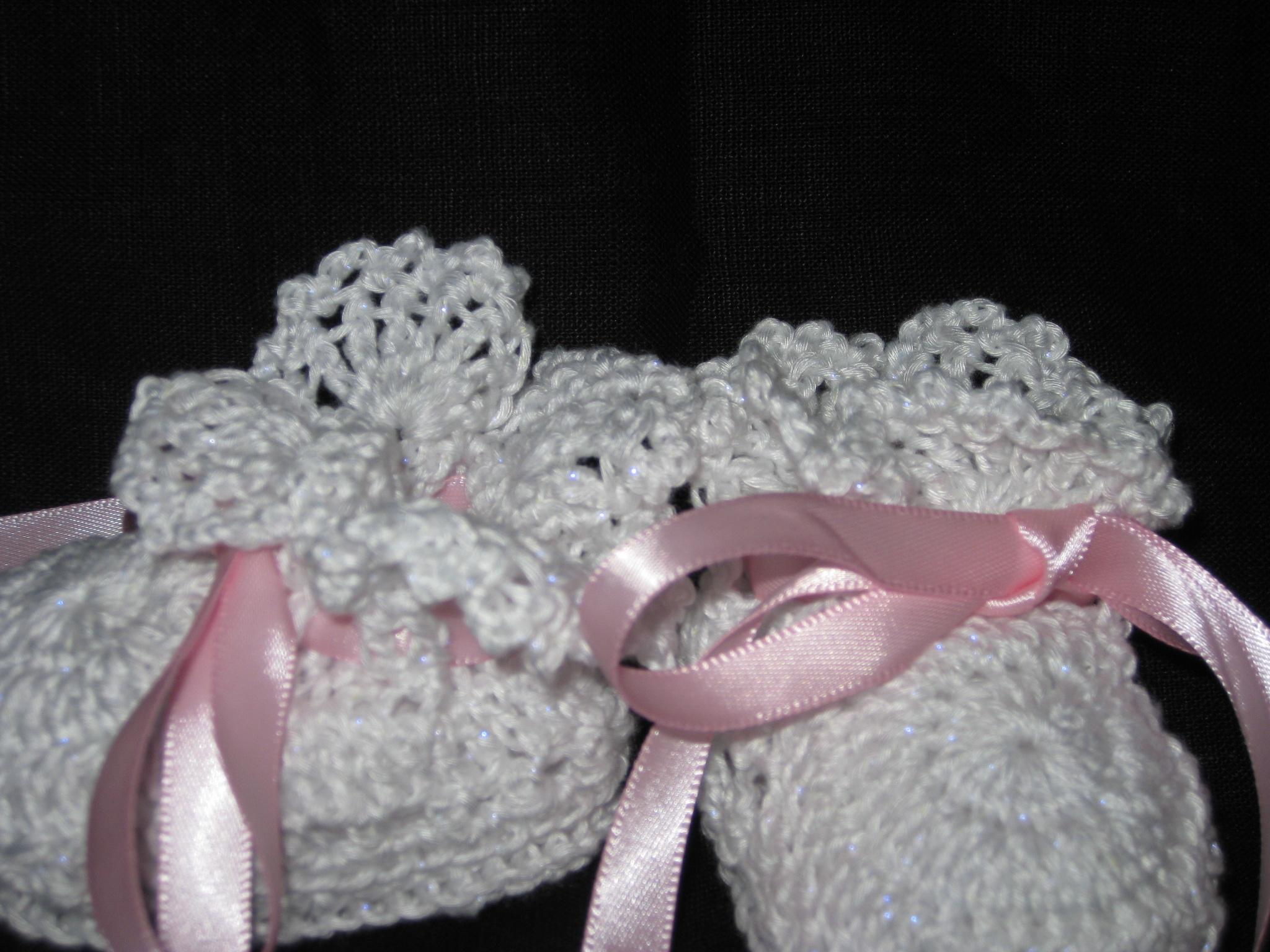 Hamburkes Crochet Lacy Crochet Baby Booties Online ...