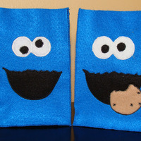Sesame Street Felt Party Favor Bag Assortment - 1 of Each (Elmo, Cookie Monster and Big Bird) - Thumbnail 2