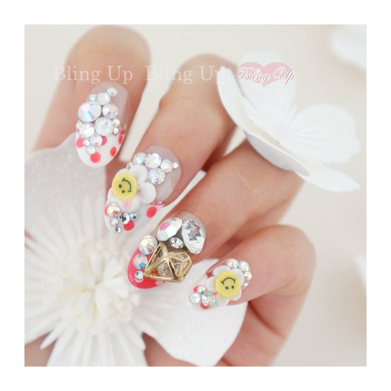 Bling Up Inc. | Smiley Face Nail Deco on Japanese Nail Art with ...