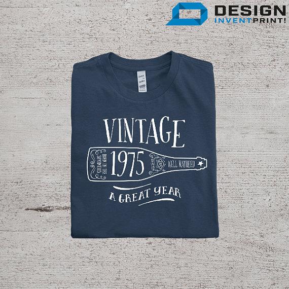 40th Birthday 1975 Birth Year Vintage T Shirt Great Present