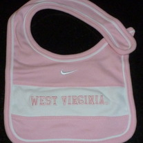 Pink West Virginia Nike Bib-12 Month