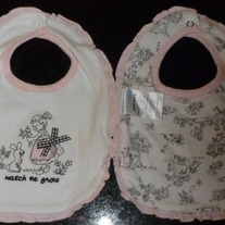2 Watch Me Grow Bibs-Vitamins Baby Size One Size