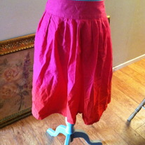 H&M Pink to Orange ombre high waisted skirt