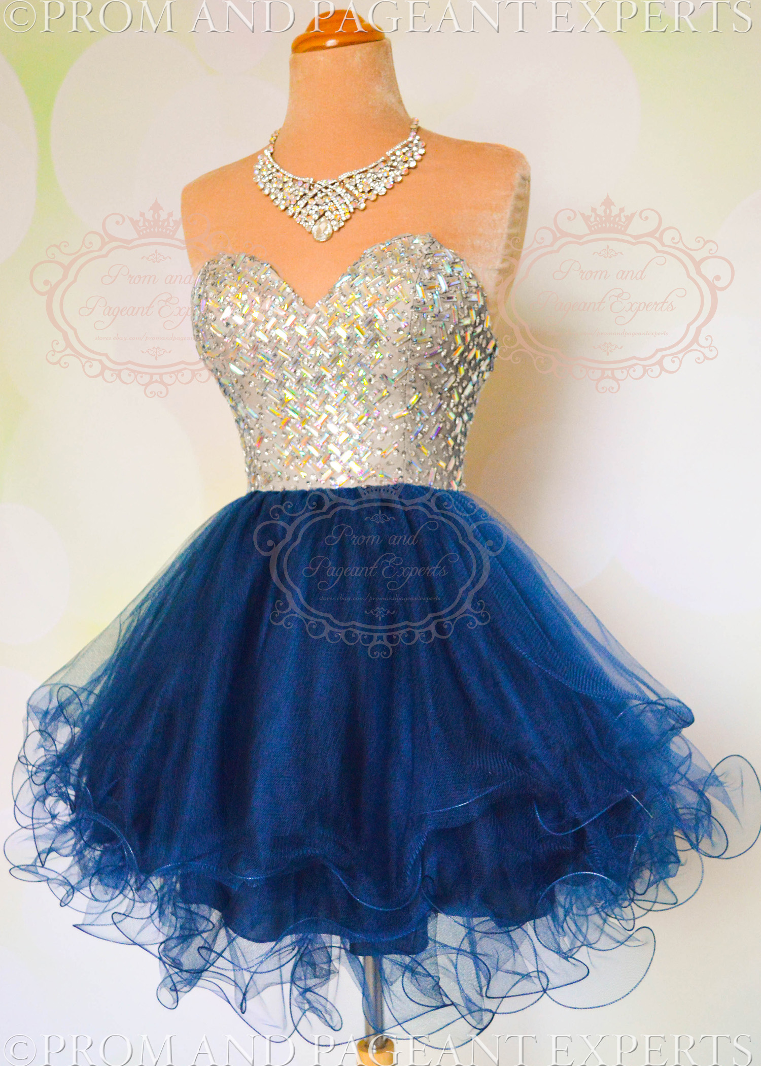Starry Night Gown in Navy/Nude · Prom and Pageant Experts · Online ...