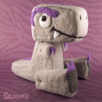 Ludwig the T-rex - Needle Felted Dinosaur Sculpture