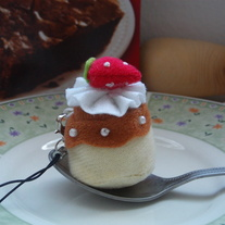 Kawaii Flan Cellphone Plush