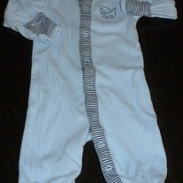 Blue Long Sleeve Romper with Puppy-Baby B'Gosh Size 3 Months