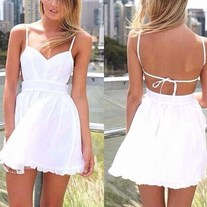 Deep in love all white cocktail mini dress