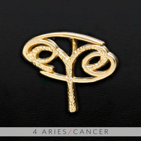 4 Aries And Cancer Gold Unity Pendant On Storenvy