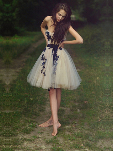 Short prom dress, cute prom dress, chiffon prom dress, Sweetheart ...