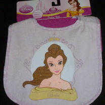 Disney Princess Belle Feeder Bib for Toddler-NEW