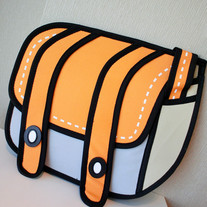 Sideway Anime Backpack ORANGE