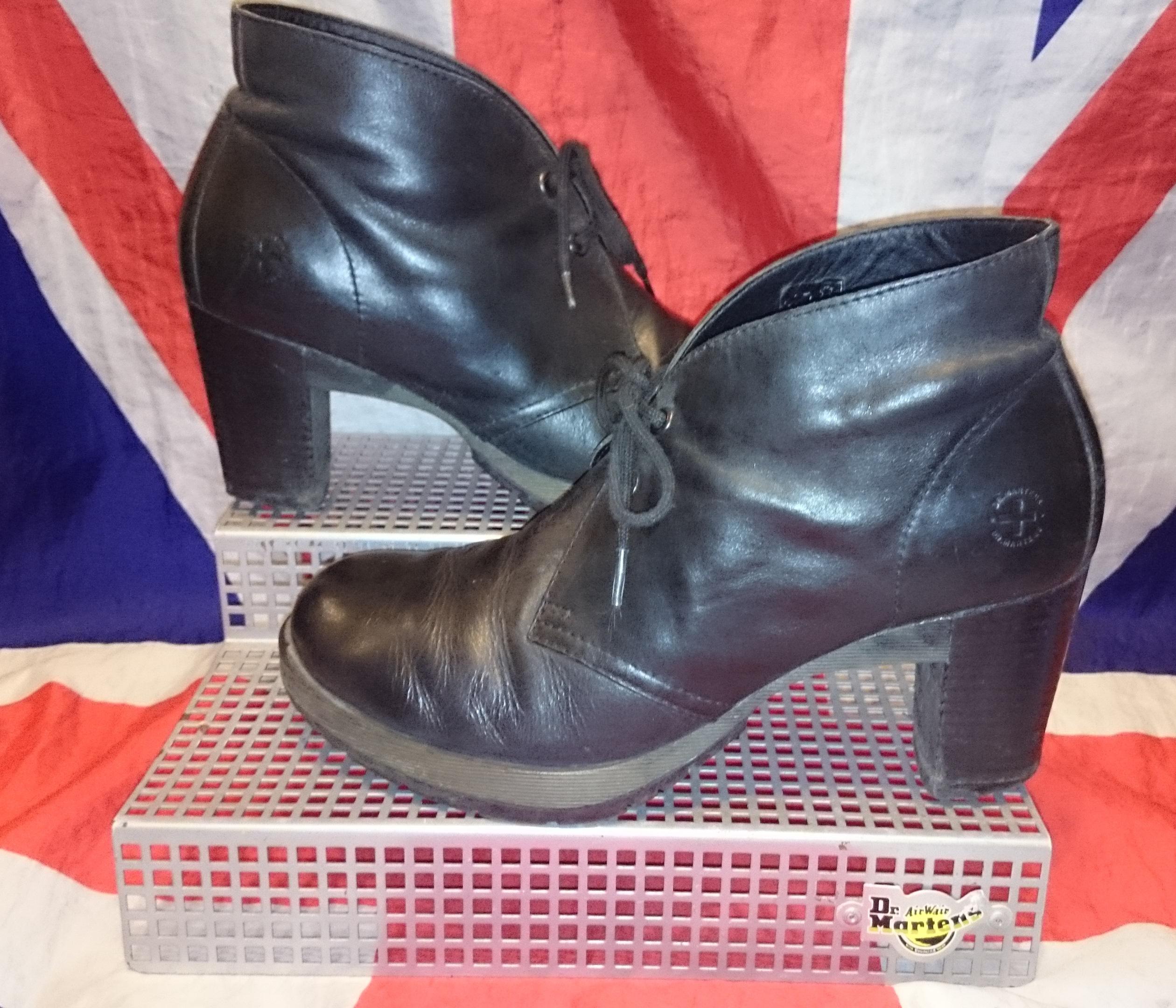 viviana soft black leather heeled dr doc martens