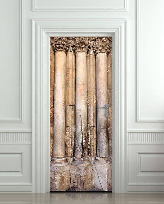 Wall Door STICKER columns column foot antiquity antiquities decole poster 30x79 (77x200cm) / & Wall Door STICKER columns column foot antiquity antiquities decole ...