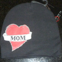 Black Hat Says Mom Inside Heart-NEW-Pinkaxle Size 6-12 Months