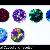 Round Crystal Cabochons (faceted) 27mm