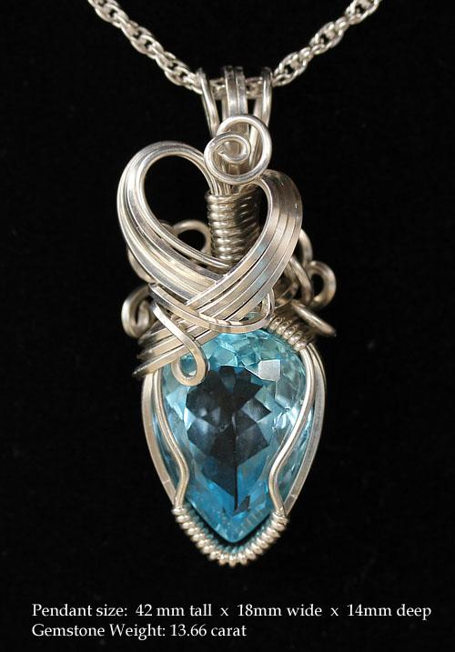Radiant ice blue topaz pendant featherdust studio online store radiant ice blue topaz pendant mozeypictures Gallery