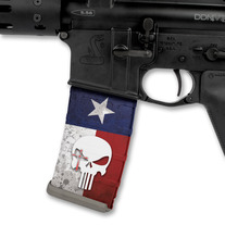 Chris Kyle Punisher Logo over TX Flag Red/White/Blue medium photo