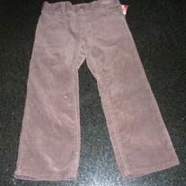 Brown Corduroy Pants-NEW-OshKosh Girl Size 3T