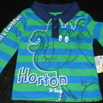 Green/Blue Dr. Seuss Shirt Size 18 Months-NEW