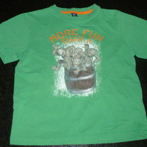 Green Barrel of Monkeys Shirt-Baby Gap Size 5T