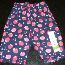 Navy Blue/Strawberry Capris-NEW-Jumping Beans Size 24 Months