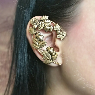 Strawberry fields brass ear wrap