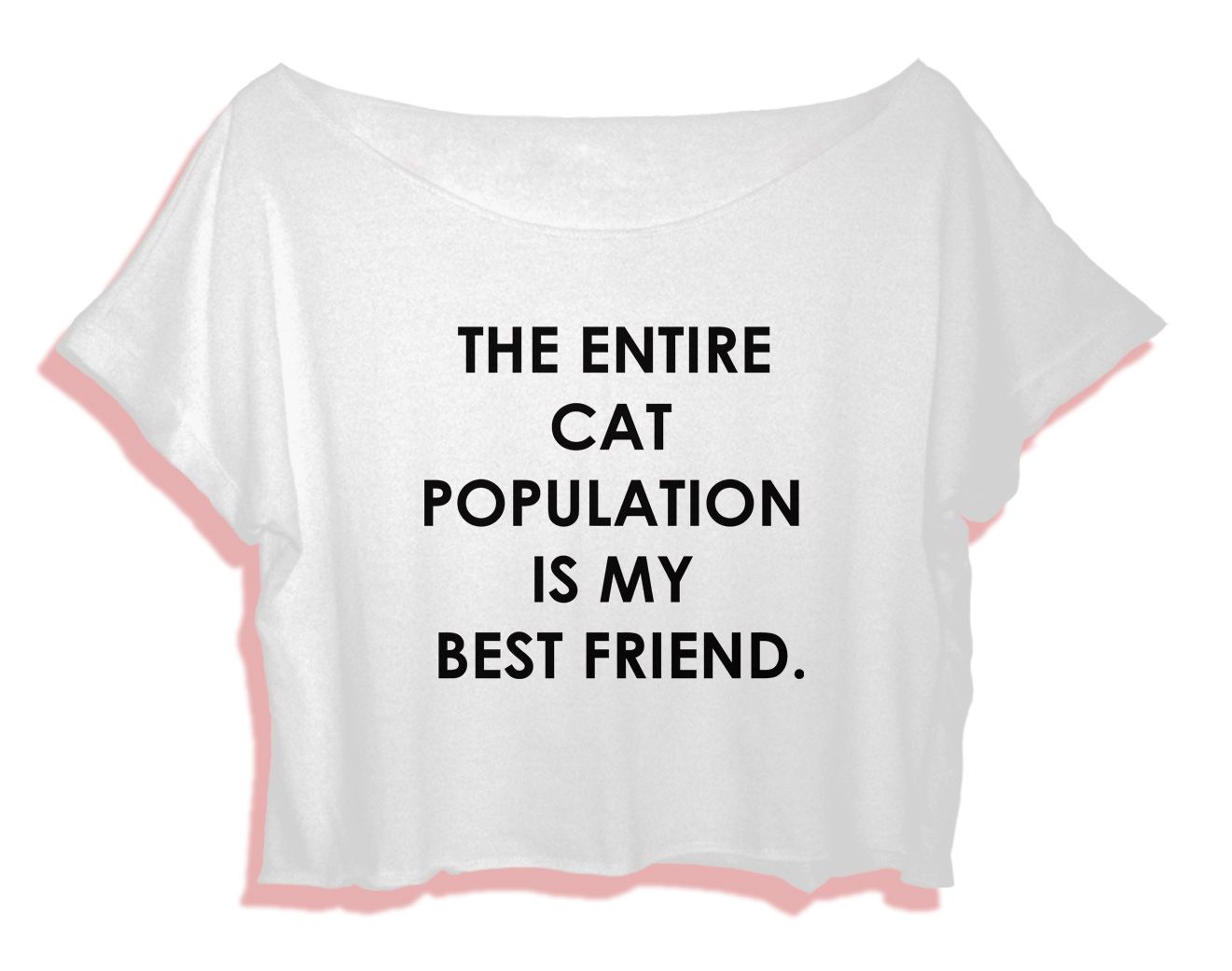 Aaa Quote Funny Quote Shirt Women Crop Top The Entire Cat Population Is My
