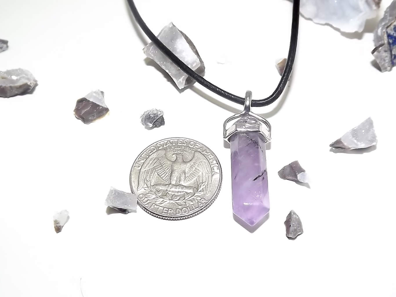 Amethyst crystal necklace urban kitty co online store for Jewelry store dickinson nd