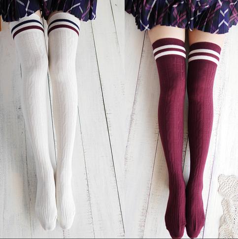 Harajuku institute wind Knee-high socks · Women Fashion ...