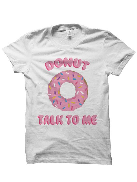donut talk to me t shirt food shirts donut shirt foodie foodie shirt funny - Cheap Christmas Shirts