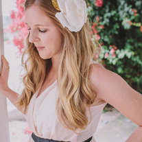 Oversized linen flower headband - 2013 bridal collection