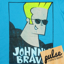 Johnny Bravo Blue Unisex T-Shirt
