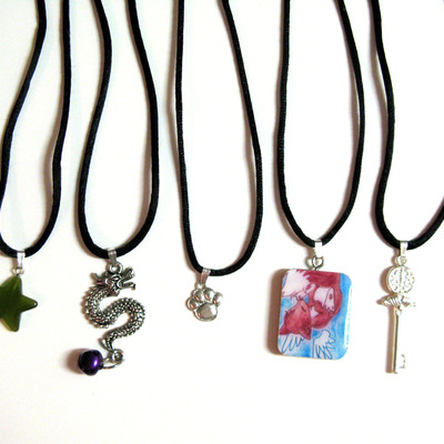 Make a charm a necklace- 4 cord types