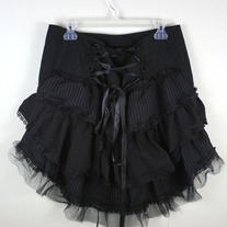 Gorgeous Black Pin Striped Custom Burlesque Skirt