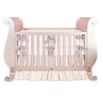 Custom Silk Crib Bedding - Ruffled Skirt