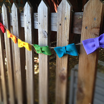 Rainbow Bow Garland