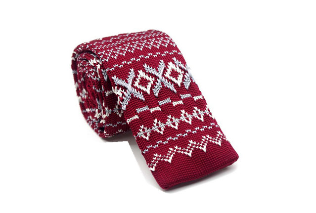 Greywhite And Red Fashion Pattern Necktiesit Ties For Mencasual