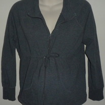 Gray Zip Up Jacket-Motherhood Maternity Size XL  CL413