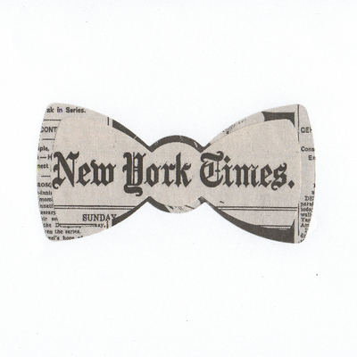Random newspaper bow tie