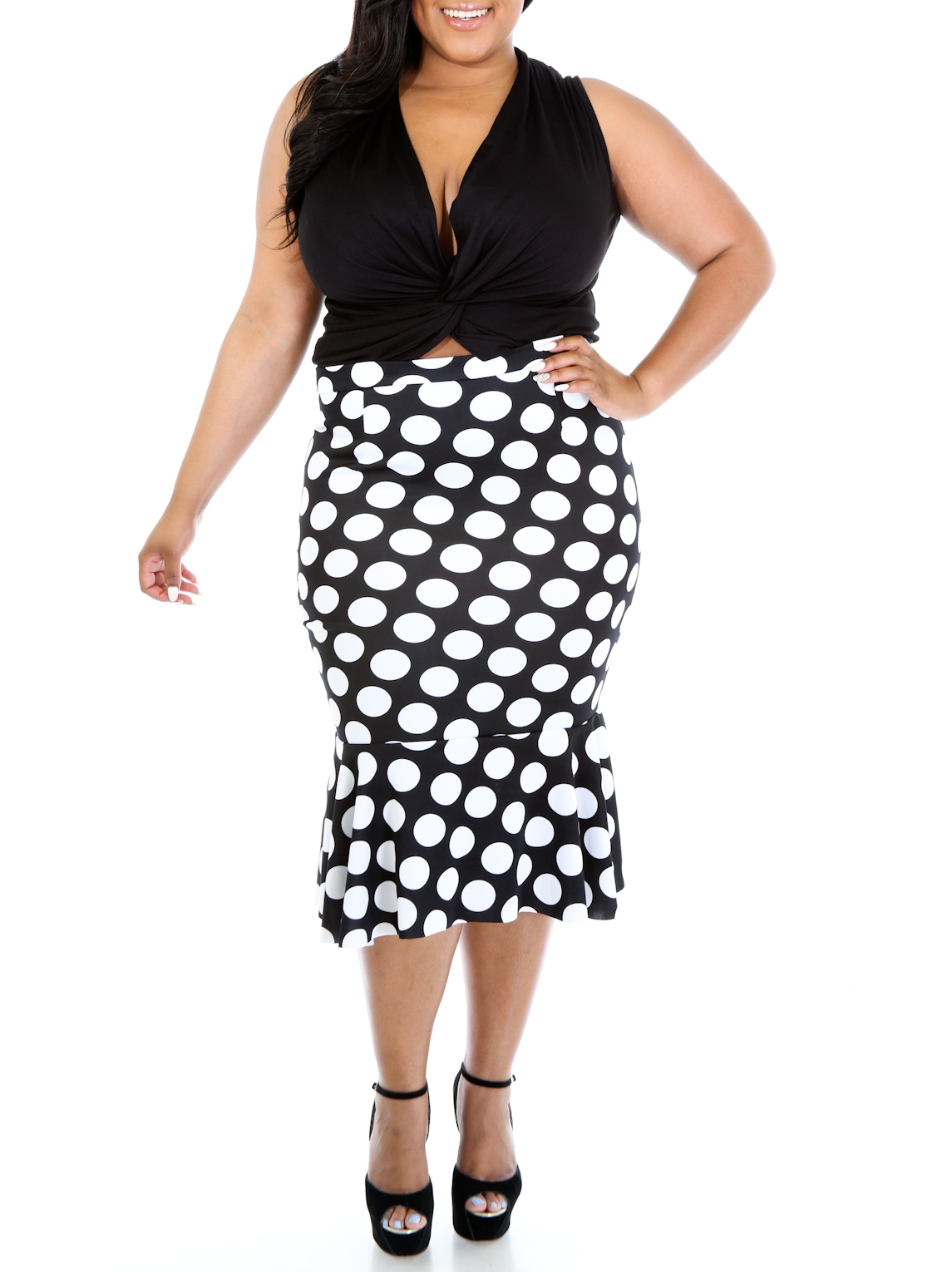 polka flare skirt curvy doll stylo clothing and shoes online